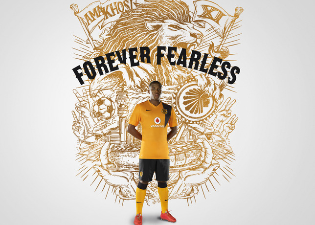 Kaizer Chiefs 2014 2015 Nike Soccer Jersey, Football Kit, Shirt