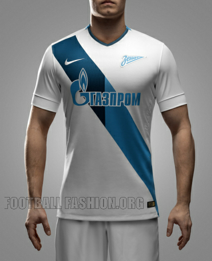 FC Zenit Saint Petersburg 2014 2015 Nike Home and Away Football Kit, Soccer Jersey