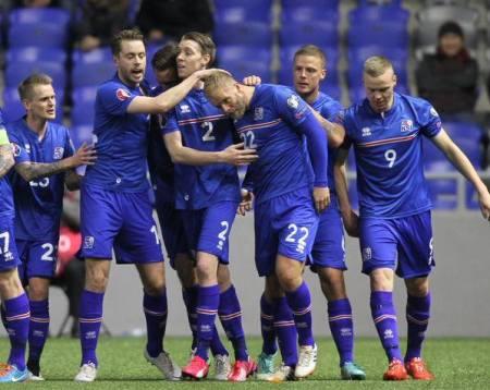 Iceland 2014 2015 2016 Errea Home Football Kit, Soccer Jersey