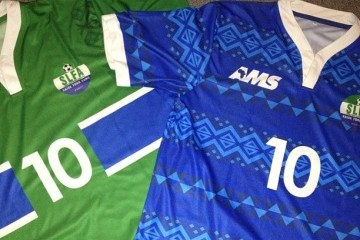 Sierra Leone 2014 2015 AMS Home and Away Football Kit, Shirt, Soccer Jersey