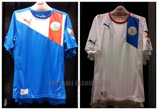 Philippines Azkals 2014 2015 AFF Suzuki Cup PUMA Football Kit, Soccer Jersey, Shirt