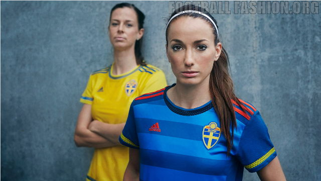 Sweden World Cup 2015 adidas Home and Away Football Kit, Shirt, Soccer Jersey, Landslagströjan, Tröjan