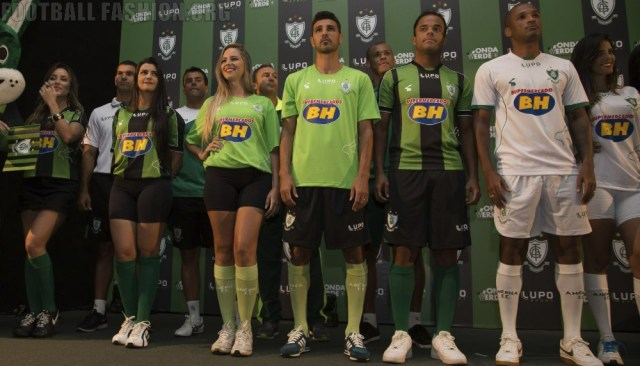 América MG Futebol Clube 2015 Lupo Home, Away and Third Football Kit, Soccer Jersey, Shirt, Camisa