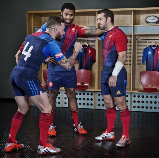 France Rugby 2015 adidas Rugby 7s Home Kit, Maillot