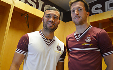 Servette FC 2015 125 Ans Anniversary Fourteen Retro Football Kit, Soccer Jersey, Maillot