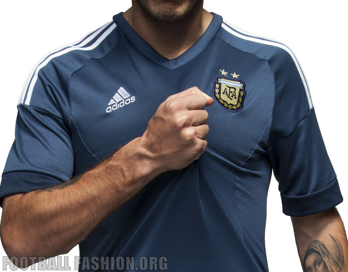 Argentina 2015 Copa America adidas Away Jersey – FOOTBALL FASHION.ORG 6b7079a6dfc82