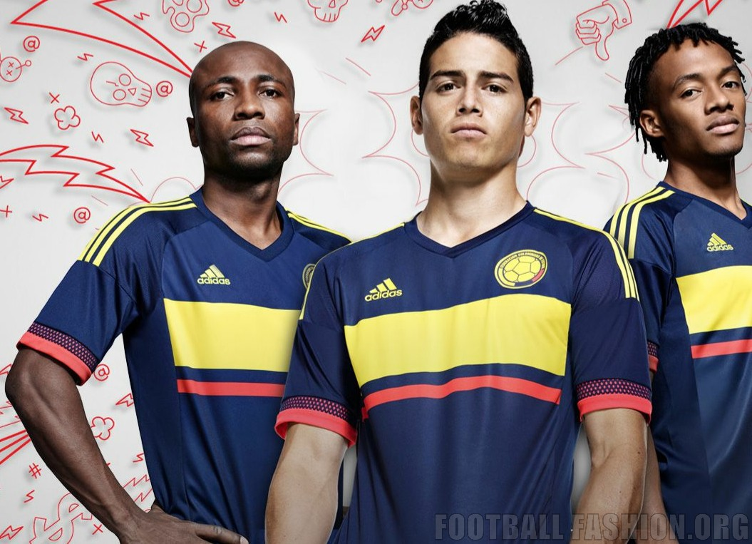 4403863d4 Colombia Yellow 2015 Copa America and World Cup adidas Away Soccer Jersey