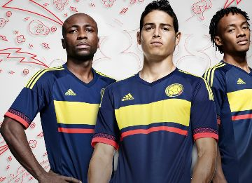 66eea35b114 Colombia 2015 Copa America adidas Away Kit - FOOTBALL FASHION.ORG