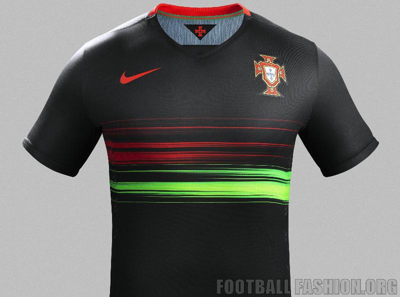 1055b6e97b2 Portugal 2015 2016 Black Nike Away Soccer Jersey, Football Kit, Shirt,  Camisa,
