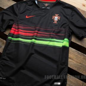 Portugal 2015 2016 Black Nike Away Soccer Jersey, Football Kit, Shirt, Camisa, novo equipamento alternativo EURO 2016