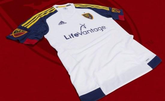 Real Salt Lake 2015 adidas Away Soccer Jersey, Football Kit, Shirt, Camiseta de Futbol