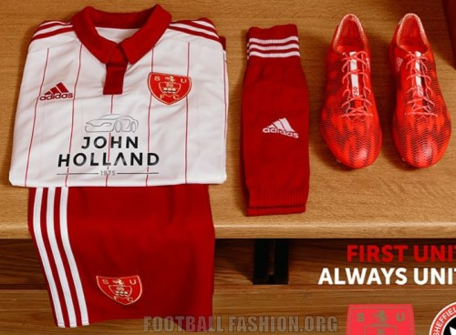 Sheffield United 2015 2016 adidas Home Football Kit, Shirt, Soccer Jersey