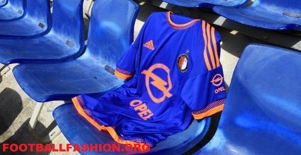 Feyenoord Rotterdam 2015 2016 adidas Away Football Kit, Soccer Jersey, Uitshirt