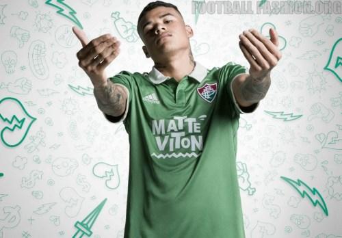 Fluminense FC 2015 adidas Third Football Shirt, Soccer Jersey, Kit, Camisa do Futebol