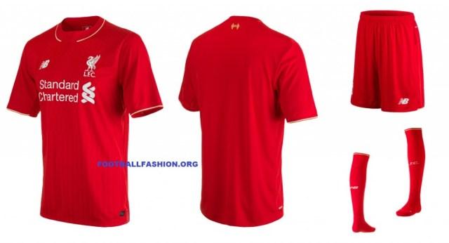 Liverpool Football Club 2015 2016 Red New Balance Home Kit, Shirt, Soccer Jersey, Camiseta de Futbol