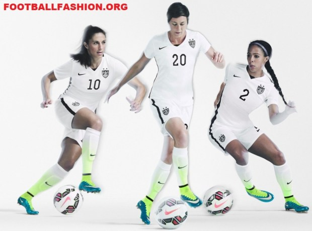 United States White 2015 Nike Women's World Cup Soccer Jersey, Kit, Shirt, Uniform, USA, US Soccer, Camiseta de Futbol