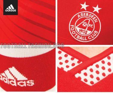 Aberdeen FC 2015/16 addias Home Football Kit, Soccer Jersey, Kit