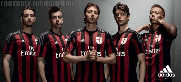 AC Milan 2015 2016 adidas Home Football Kit, Soccer Jersey, Shirt, Gara, Maglia