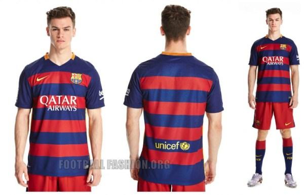 FC Barcelona 2015 2016 Hooped Nike Home and Away Football Kit, Soccer Jersey, Shirt, Camiseta de Futbol, Equipacion, Playera