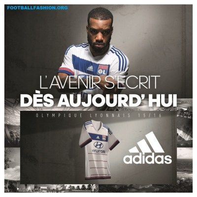 9ae46471 Olympique Lyon 2015/16 adidas Home and Away Kits - FOOTBALL FASHION.ORG