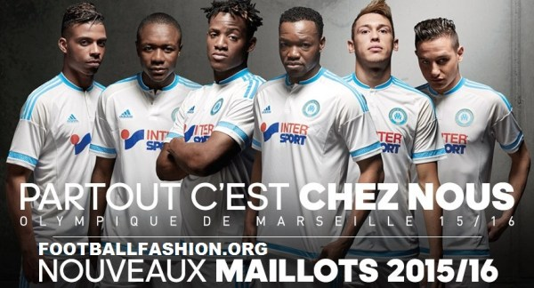 Olympique Marseille 2015 2016 adidas Home and Third Football Kit, Soccer Jersey, Shirt, Maillot