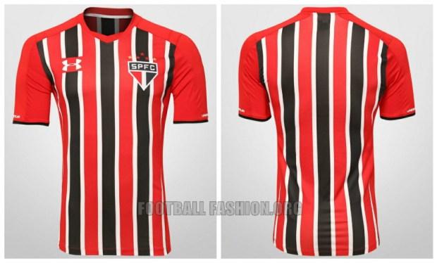 São Paulo FC 2015 2016 Under Armour Home and Away Football Kit, Soccer Jersey, Football Shirt, Camisa do Futebol