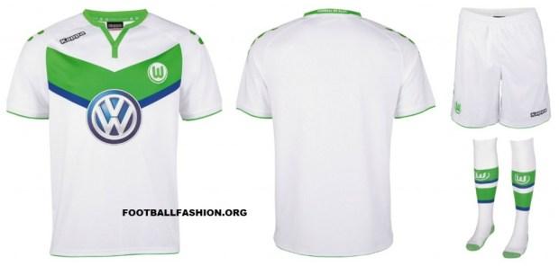 VfL Wolfsburg 2015 2016 Kappa Home Football Kit, Soccer Jersey, Shirt, Trikot