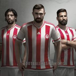 Olympiacos FC 2015 2016 adidas Home Football Kit, Soccer Jersey, Shirt