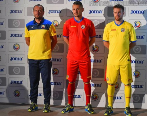 Romania 2015 2016 Joma Home and Away Football Kit, Soccer Jersey, Kit