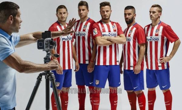 Atlético de Madrid 2015 2016 Nike Home Soccer Jersey, Shirt, Football Kit, Camiseta de Futbol, Equipacion