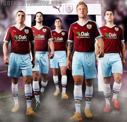 Burnley Football Club 2015 2016 PUMA Claret Home Kit, Soccer Jersey, Shirt