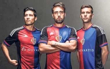 FC Basel 2015 2016 adidas Home Football Kit, Soccer Jersey, Shirt, Maillot, Trikot