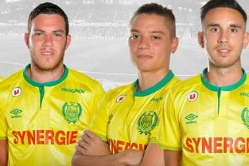 FC Nantes 2015 2016 Umbro Home Football Kit, Soccer Jersey, Shirt, Maillot