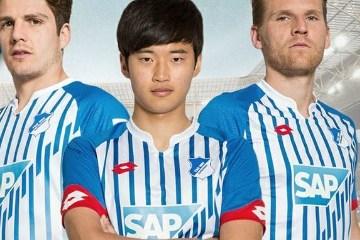 TSG 1899 Hoffenheim 2015 2016 Lotto Sport Home Football Kit, Soccer Jersey, Shirt, Trikot, Heimtrikot