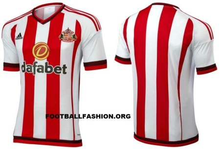 Sunderland AFC 2015 2016 adidas Home Football Kit, Soccer Jersey, Shirt
