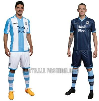 tsv 1860 m nchen 2015 16 macron home and away kits football fashion org. Black Bedroom Furniture Sets. Home Design Ideas