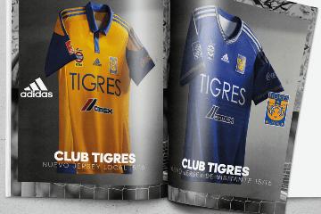 Tigres UANL 2015 2016 adidas Home and Away Soccer Jersey, Football Shirt, Kit, Camiseta de Futbol, Playera, Equipacion