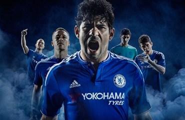 Chelsea Football Club 2015 2016 adidas Blue Home Kit, Soccer Jersey, Shirt, Camiseta