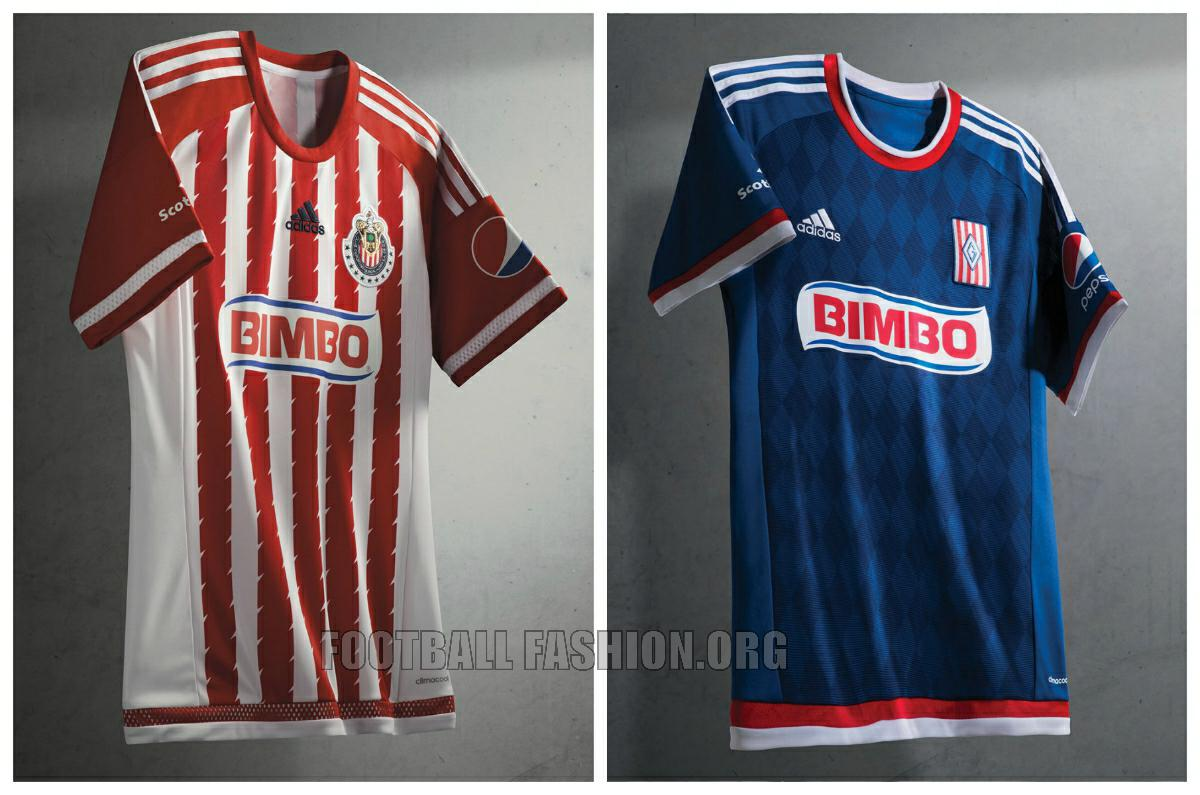 official photos 0a6b7 dc568 Chivas de Guadalajara 2015/16 adidas Home and Away Jerseys ...