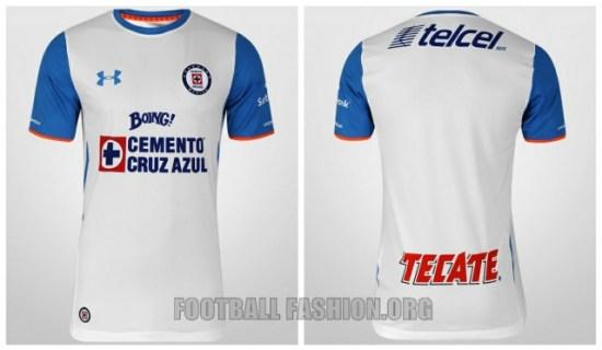 Cruz Azul 2015 2016 Under Armour Home, Away and Third Soccer Jersey, Football Shirt, Kit, Camiseta de Futbol, Equipacion, Playera