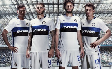Inter Milan 2015 2016 Nike White Away Soccer Jersey, Football Kit, Shirt, Maglia, Gara
