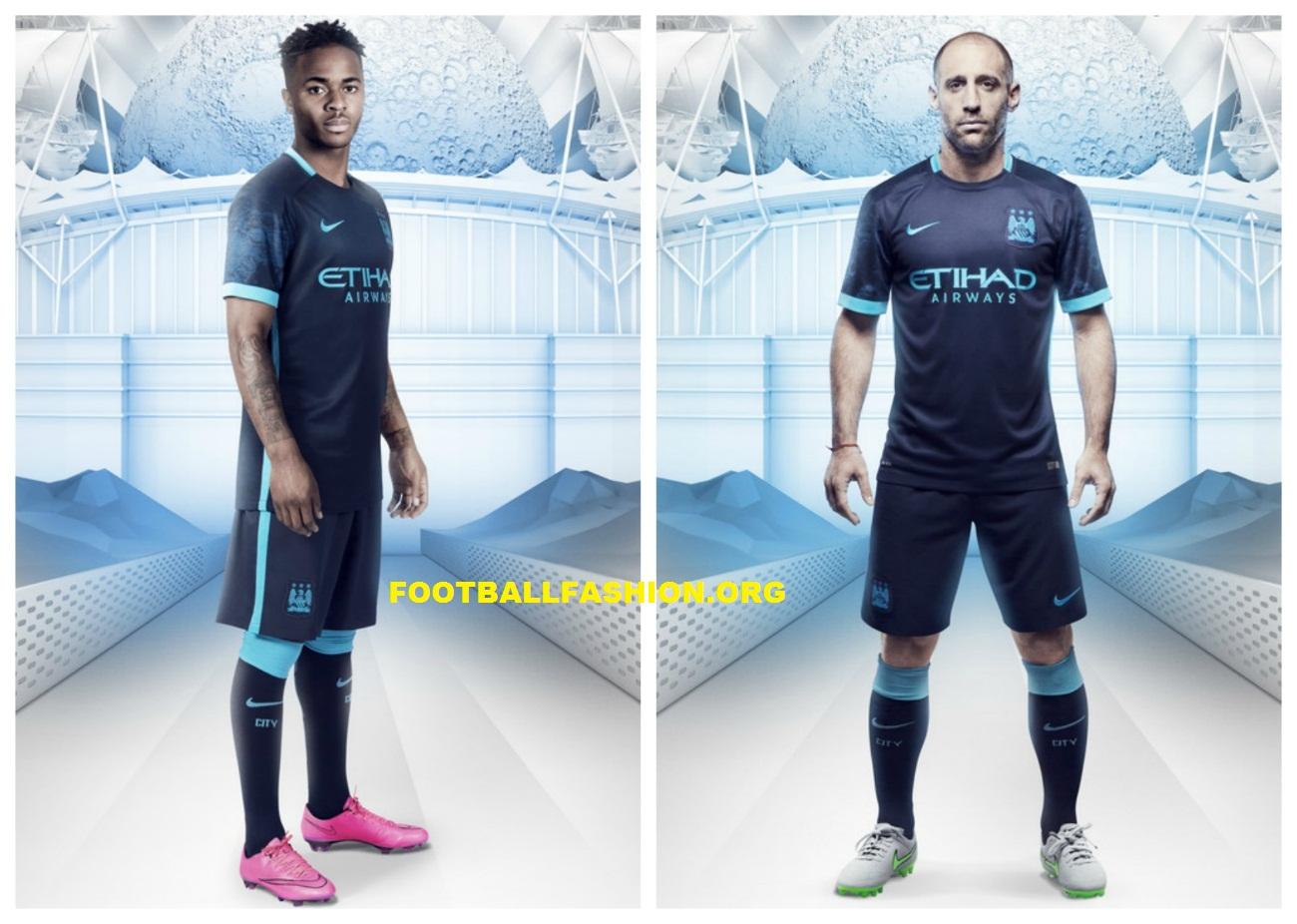 2e6bc139 Manchester City Football Club 2015 2016 Nike Away Kit, Soccer Jersey, Shirt,  Camiseta