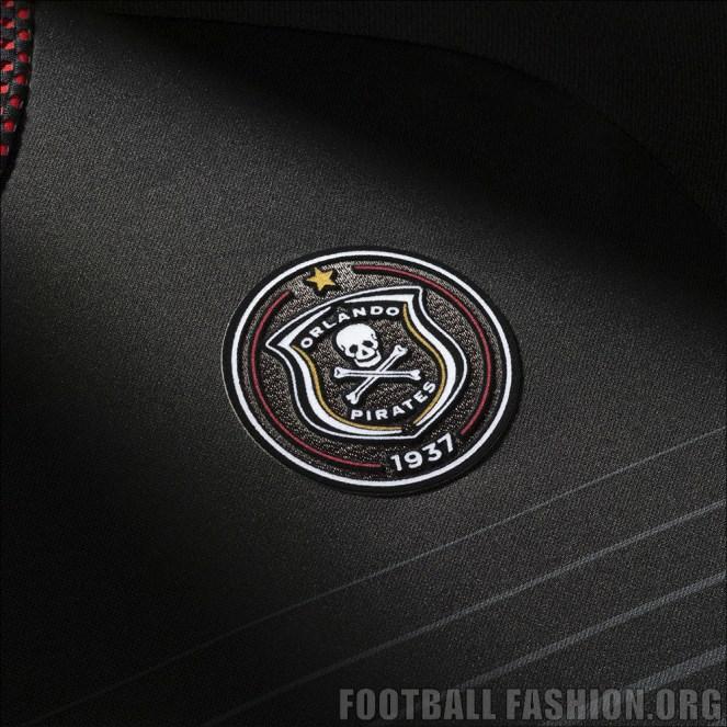 Orlando Pirates 2015 2016 adidas Black Home Football Kit, Soccer Jersey, Shirt