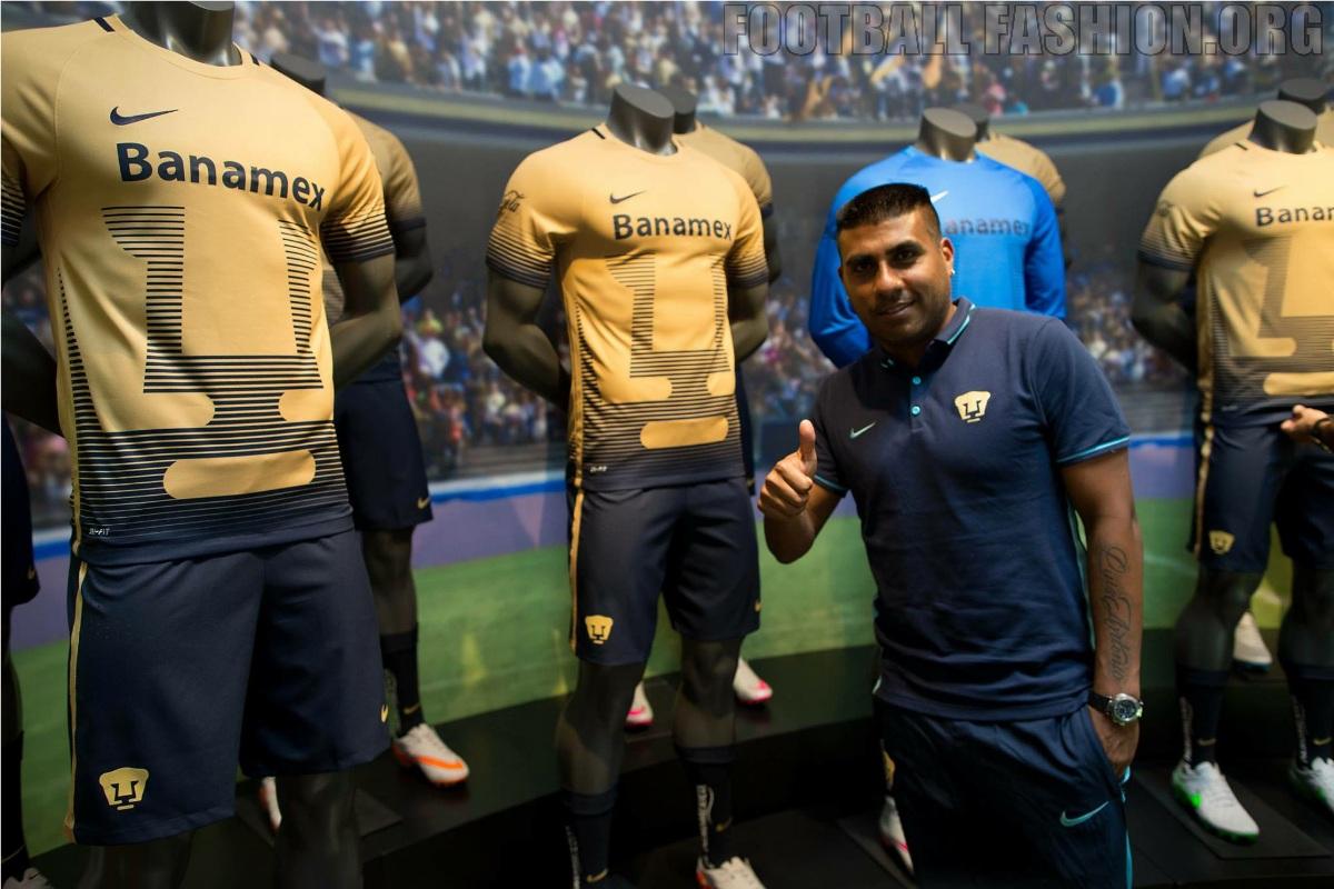 Pumas De La Unam 2015 16 Nike Home And Away Jerseys