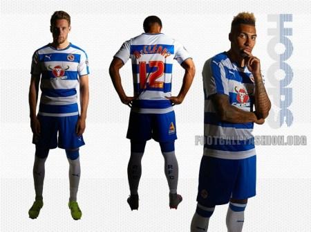 Reading Football Club 2015/16 PUMA Home Kit, Soccer Jersey, Shirt