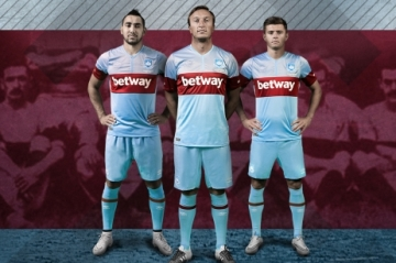 West Ham United 2015 2016 Umbro Away Football Kit, Shirt, Soccer Jersey