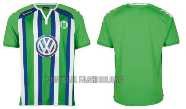 VfL Wolfsburg 2015 2016 Kappa Away Football Kit, Soccer Jersey, Shirt, Trikot, Auswärtstrikot