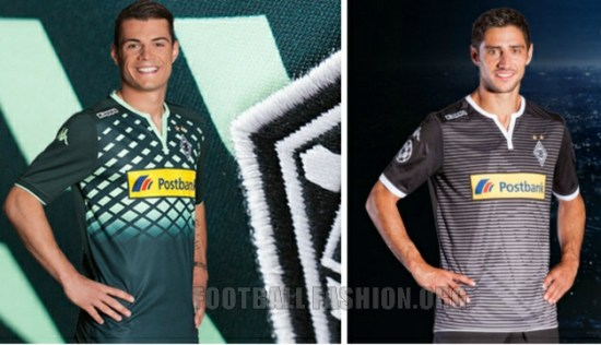 Borussia Mönchengladbach 2015 2016 Kappa Away and Champions League Football Kit, Soccer Jersey, Shirt, Trikot