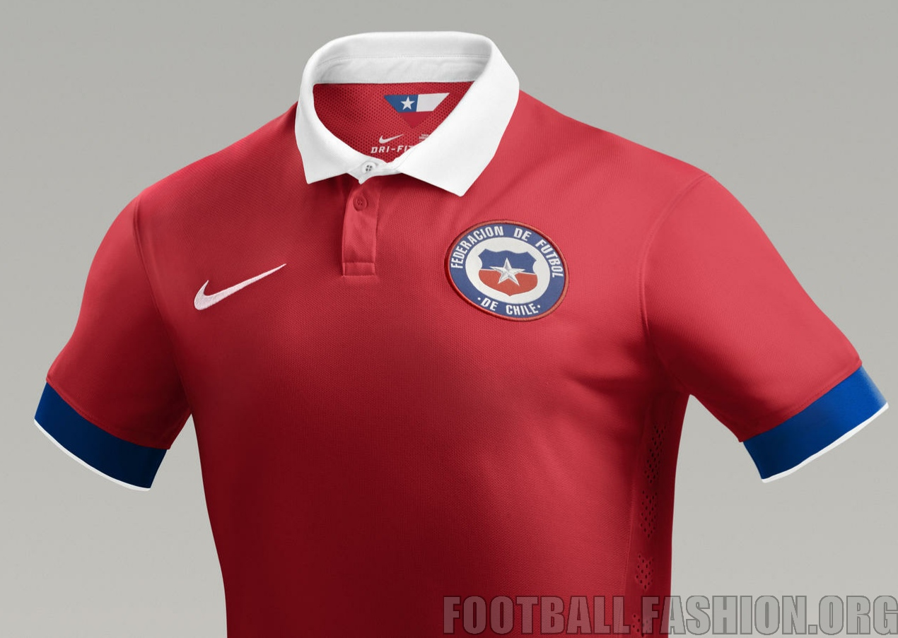 Chile 2015 16 Nike Home and Away Kits – FOOTBALL FASHION.ORG bcbe8b50892ad
