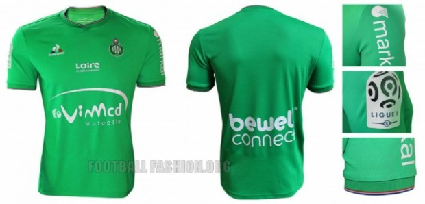 AS Saint-Étienne 2015 2016 le coq sportif Home, Away and Third Football Kit, Soccer Jersey, Shirt, Maillot
